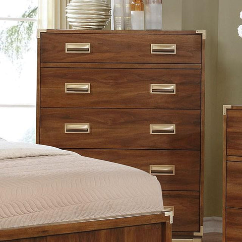 Anetta Transitional Style Dark Oak, 5-Drawer Chest