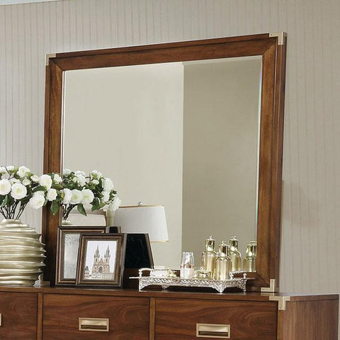Anetta Transitional Style Dark Oak Mirror