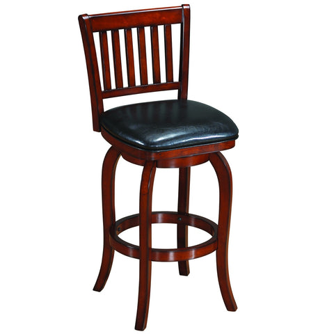 Backed Barstool Square Seat - Chestnut
