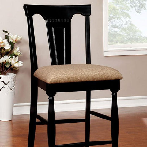 Barbara Cottage Pub Chair (Set of 2) in Black and Cherry