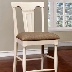 Barbara Cottage Pub Chair (Set of 2) in White and Cherry