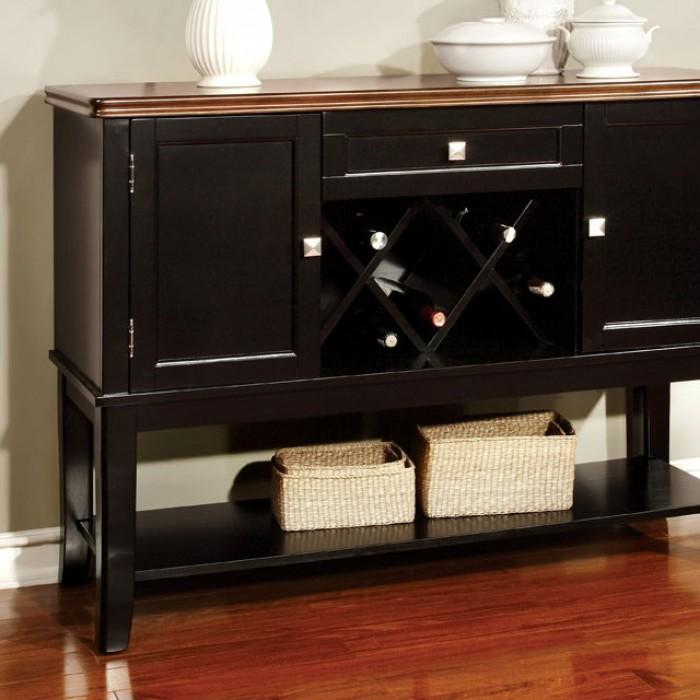 Benton Cottage Server in Black and Cherry