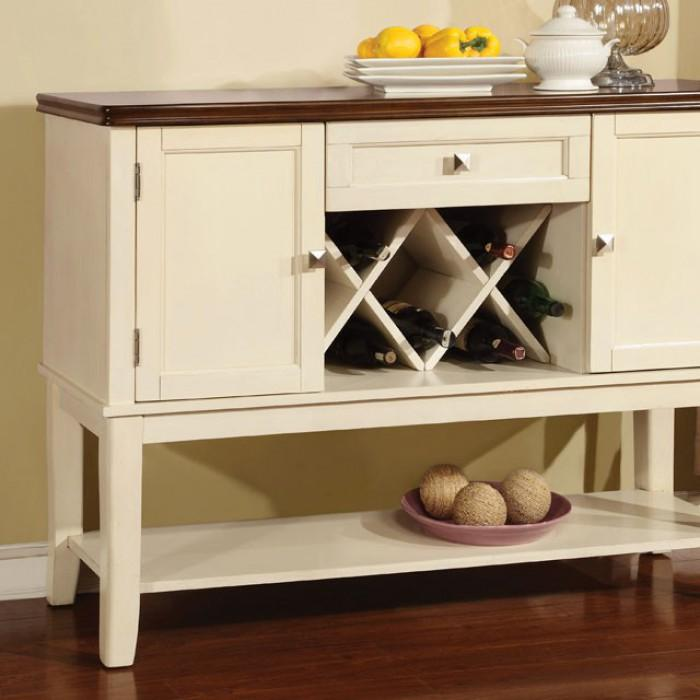 Benton Cottage Server in White and Cherry