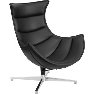 Black Leather Cocoon Chair