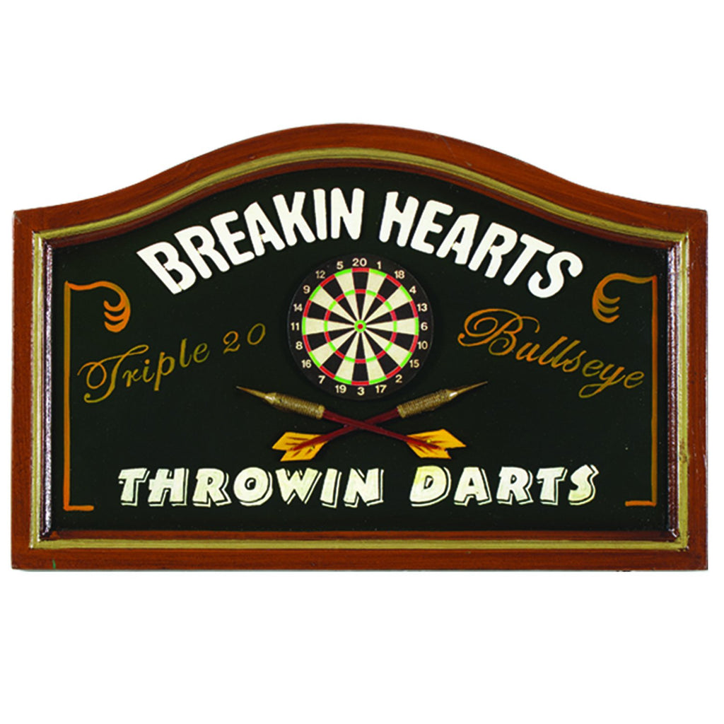 Breaking Hearts and Throwing Darts Wall Sign