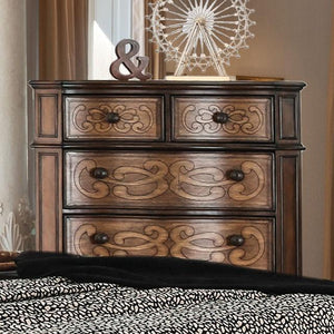Buske Transitional Style Chestnut, 6-Drawer Chest