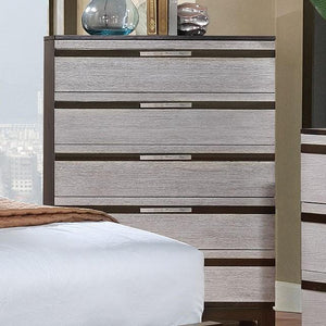 Cartier Contemporary Style Silver, 5-Drawer Chest