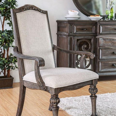 Dana rustic Style arm chair (Set of 2)