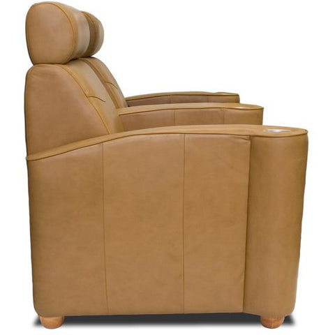 Image of Premium series diplomat lounger Style Luxurious Leather manual recliner home Theater Seating