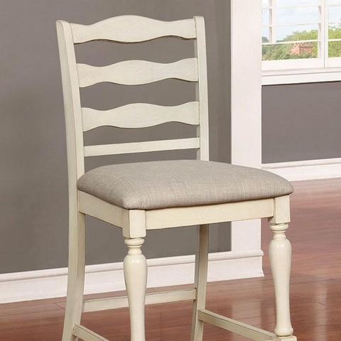 Earnest Rustic Pub Chair (Set of 2) in Antique White