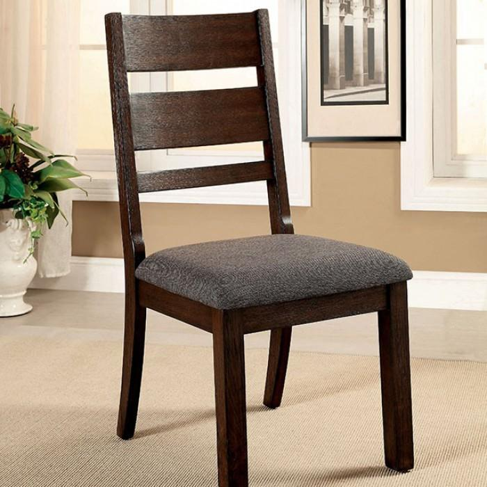 Elena Cottage Style 2PC Padded Fabric Dining Chairs
