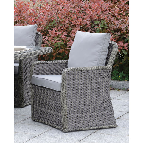 Farssi Contemporary Style Outdoor Patio Arm Chair ( Set of 2)