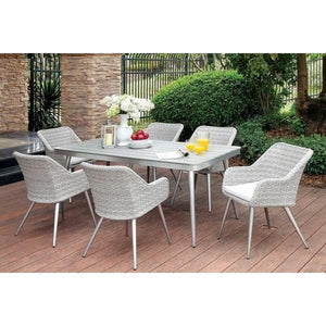 Furniture of America Shivani 7pc Outdoor Dining Set