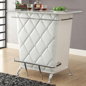 Glemma Contemporary Bar Table in White