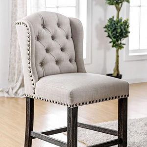 Holland Rustic Pub Chair (Set of 2) in Ivory