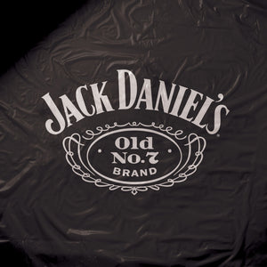 Jack Daniel's Black Vinyl Pool Table Cover - 8 ft.