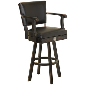 Jack Daniel's® Wood Bar Stool w/ Backrest