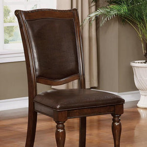 Jill traditional Style leatherette arm chair