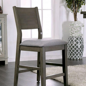 Judah Contemporary Pub Chair (Set of 2) in Gray