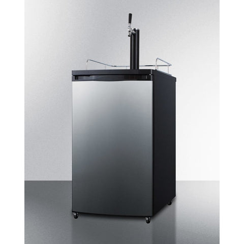 Image of Summit Full keg capacity Kegerator in a slim fit, with casters included