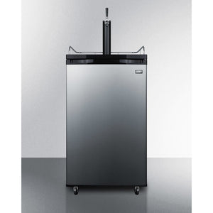 Summit Full keg capacity Kegerator in a slim fit, with casters included
