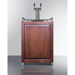 Wood Finish Dual Tap Home Kegerator