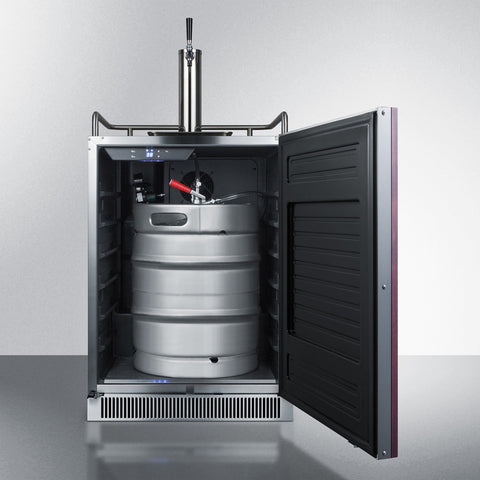 Summit Built-In Under Counter Frost-Free Fullsize Digital Beer Dispenser