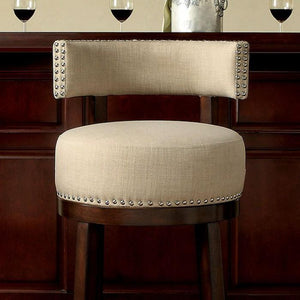 Martin Transitional Swivel 24-inch Pub Chair in Beige