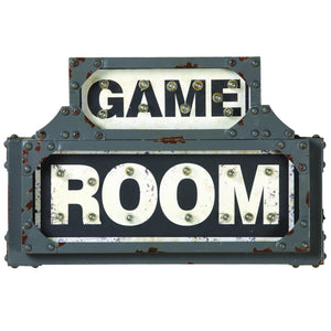 Metal Sign-Game Room