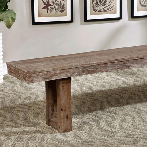 Mia Rustic Plank Style Dining Bench