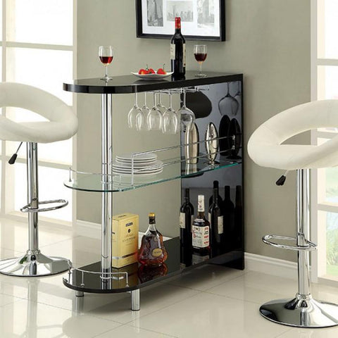 Morton Contemporary Bar Table in Black