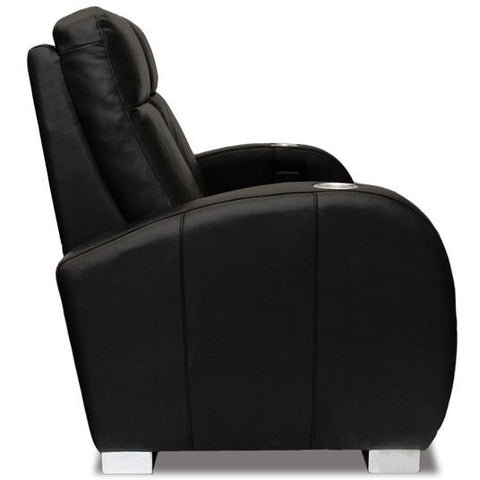 Image of Premium series olympia chaise lounger Style Luxurious Leather motorized recliner home Theater Seating