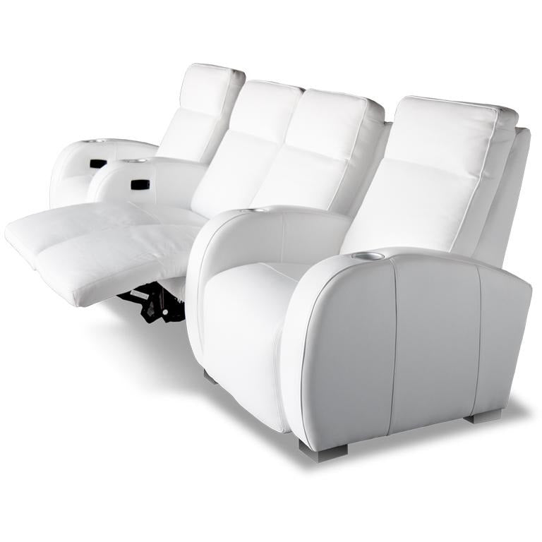 Premium series olympia chaise lounger Style Luxurious Leather motorized recliner home Theater Seating