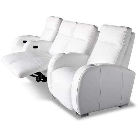 Premium series olympia chaise lounger Style Luxurious Leather manual recliner home Theater Seating