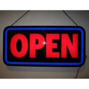 OPEN BOLD RECTANGLE LED SIGN