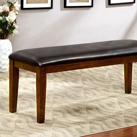 Othello Transitional Padded Leatherette Dining Bench