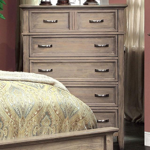Perdomo Transitional Style Weathered Oak, 6 Drawer Chest