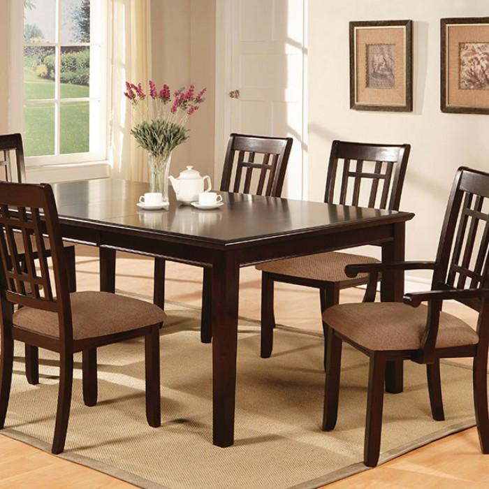 "Sienna Transitional 18"" Expandable Leaf Dinner Table"