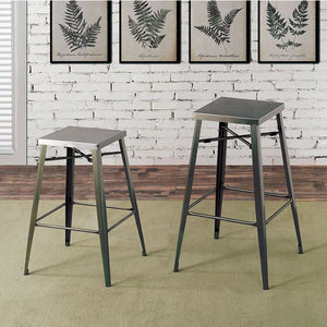 "Simon Industrial Bar Stool In Gun Metal 30"" (Set of 2)"