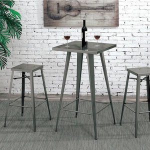 Simon Industrial Bar Table In Gun Metal