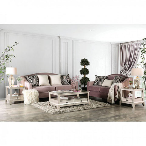Image of Campana neutral colored love seat