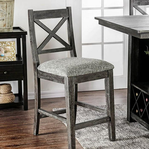 Taryn Transitional Pub Chair (Set of 2) in Dark Walnut
