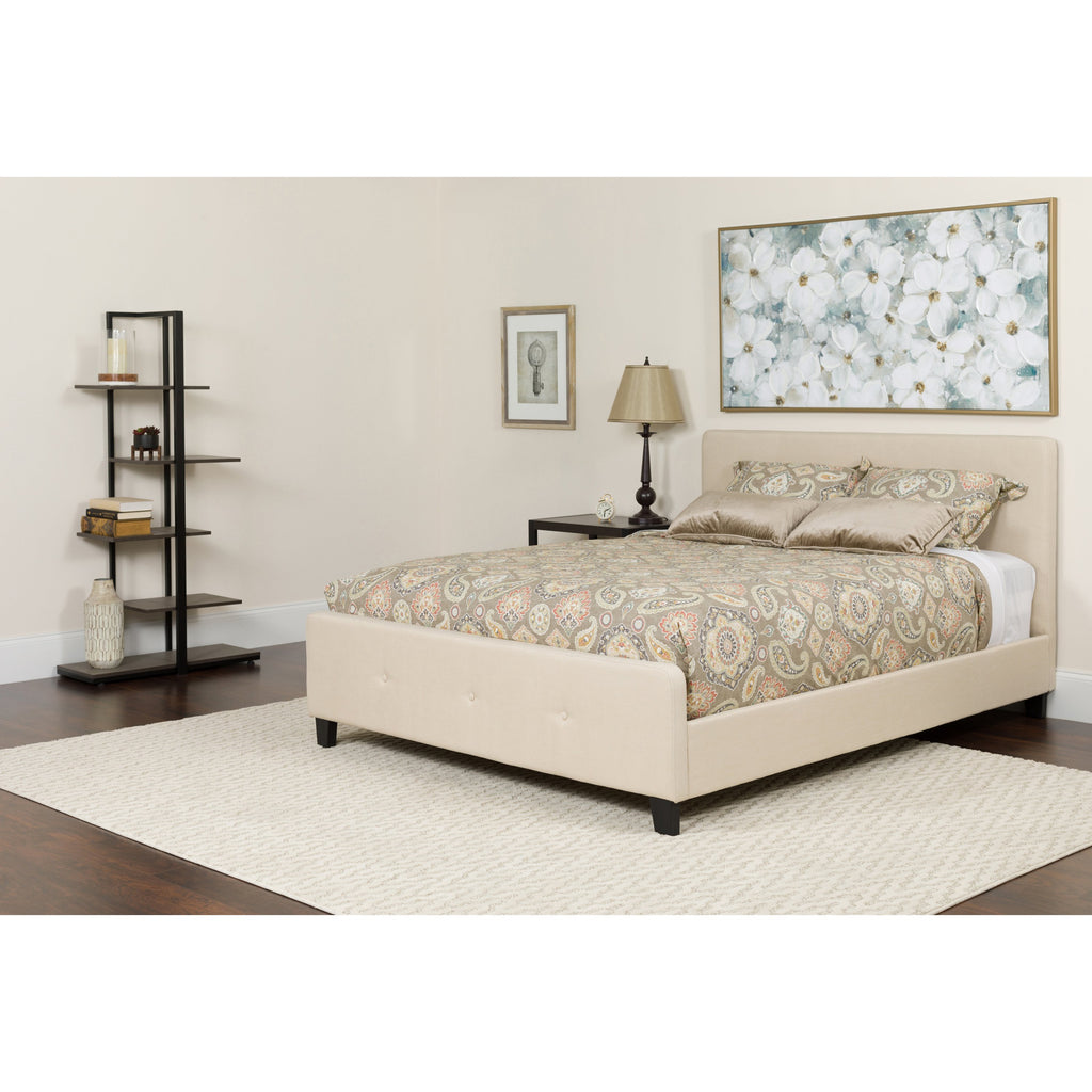 Tribeca Tufted Upholstered Platform Bed in Many Colors