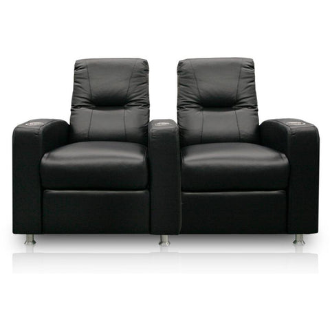 Image of Premium series tristar lounger Style Luxurious Leather manual recliner home Theater Seating