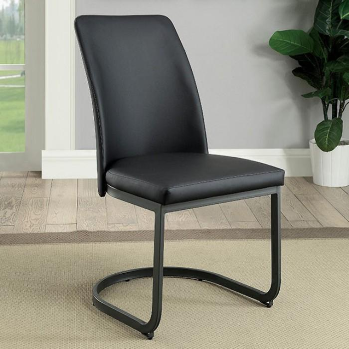 Whitney Contemporary Side Chair (Set of 2) in Gray