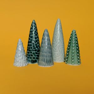 Mini Trees - set of 5
