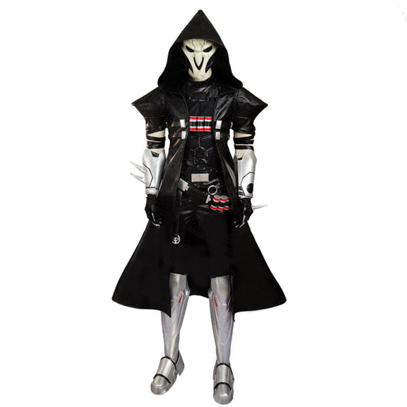 Overwatch Game REAPER Cosplay Full Costume