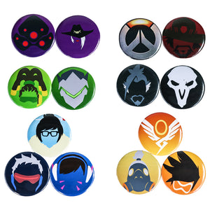 Overwatch Hero Pins Badge Collection Pin Set of 14 pcs | D. Va, Tracer, Soldier 76, Ashe, Reaper Cosplay Accessories