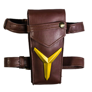 Overwatch Ashe Thigh Pack Cosplay Accessories Elizabeth Caledonia Game Anime Props for Women/Teens Brown