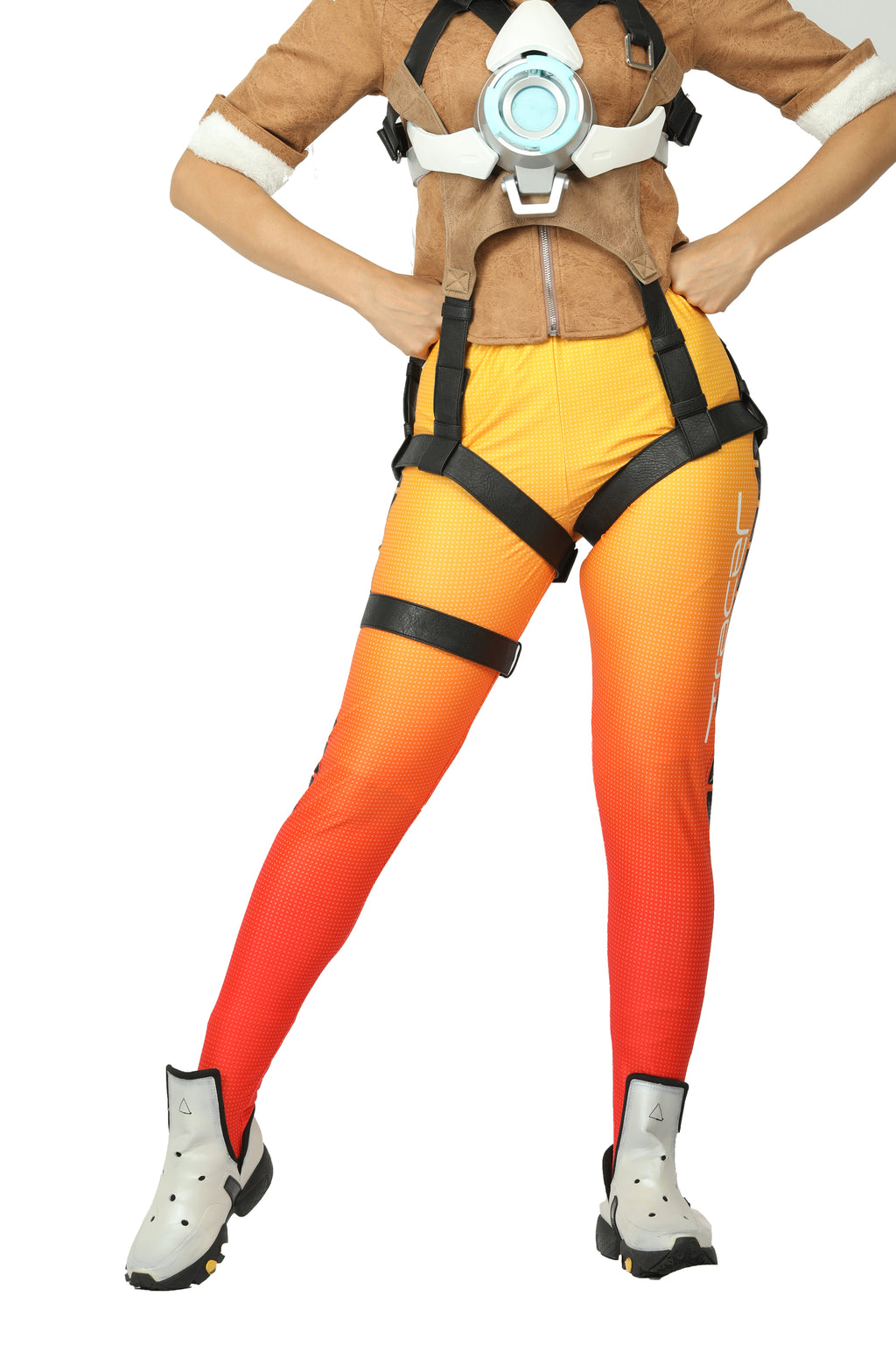 Women's Overwatch Tracer Lena Oxton Cosplay Halloween Game Costume Pants